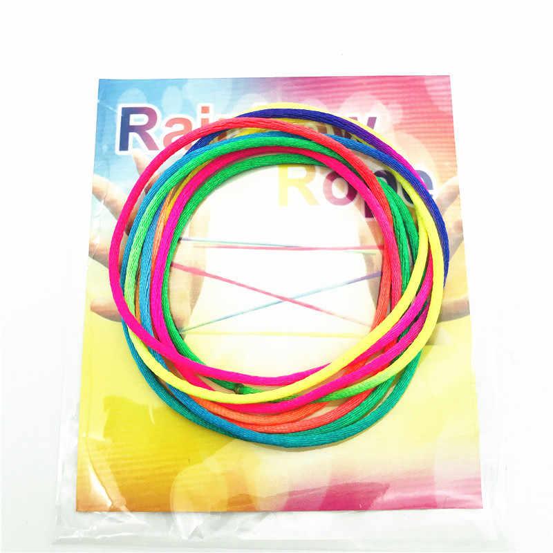 Bambini Arcobaleno Colore Fumble di Barretta Filo Corda stringz Gioco Colorato Filo di Corda del Giocattolo Dito String Puzzle Creare Giocattolo