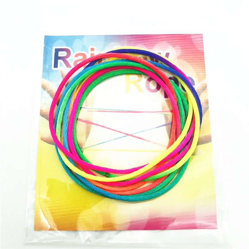 Kids Rainbow Colour Fumble Finger Thread Rope Stringz Game Coloured Thread Toy Rope Finger String Puzzle Create Toy
