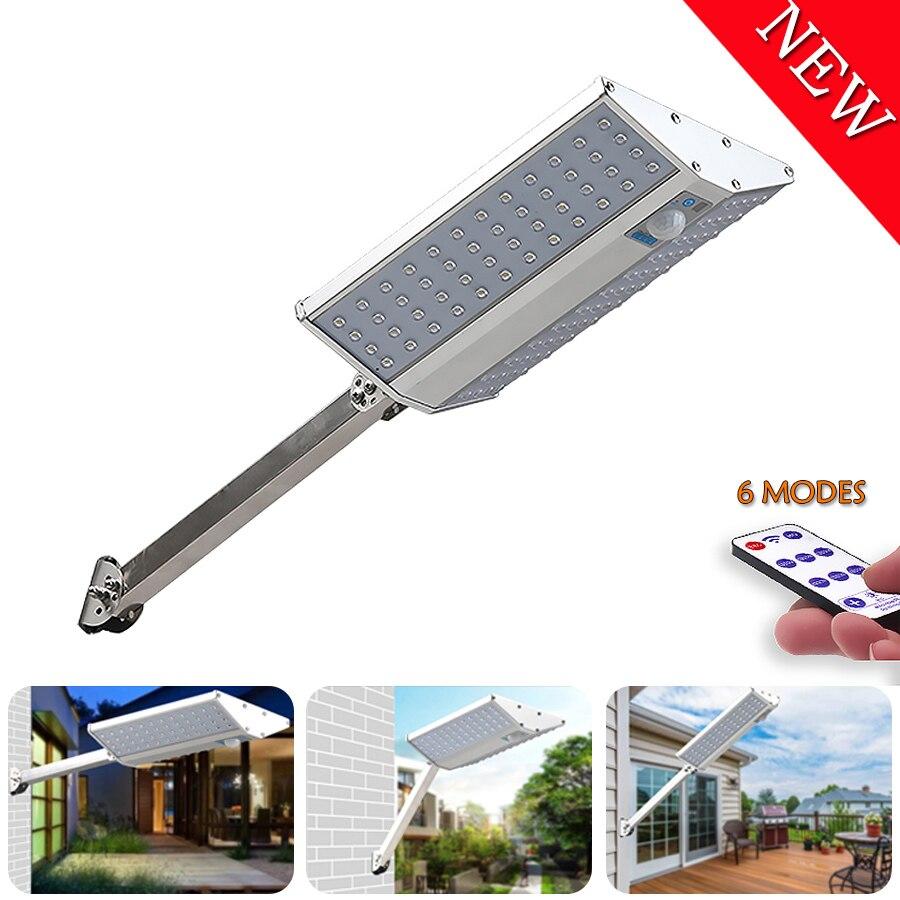 6 Modes Led Solar Light Waterproof Solar Street Lights PIR Motion Sensor Double Sided Solar Garden Lamp For Outdoor House Plaza