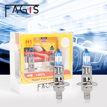 Fagis 2pcs H1 H7 12V 55W Bulbs Super Bright White High Power Car Headlights High Beam Lamp Low Beam Light Auto Halogen Bulb 2pcs h7 6000k gas halogen headlight blue housing provides white light lamp bulbs 55w 12v automotive headlights