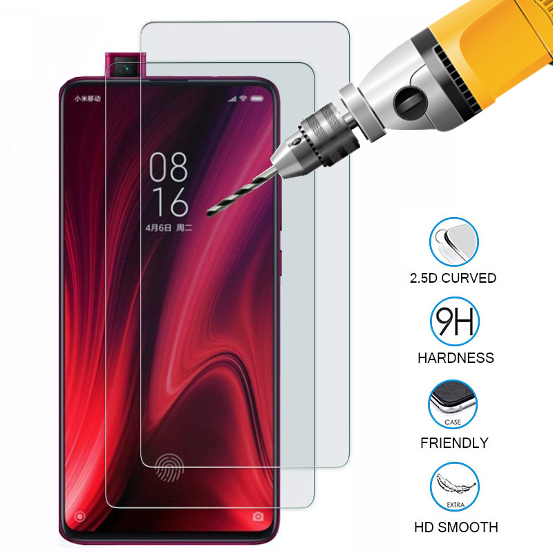 2pcs mi9t protective glass on for xiaomi mi 9t mi9t pro tempered glass for xiaomi xiomi xaomi 9tpro 9 t t9 pro safety glass film(China)
