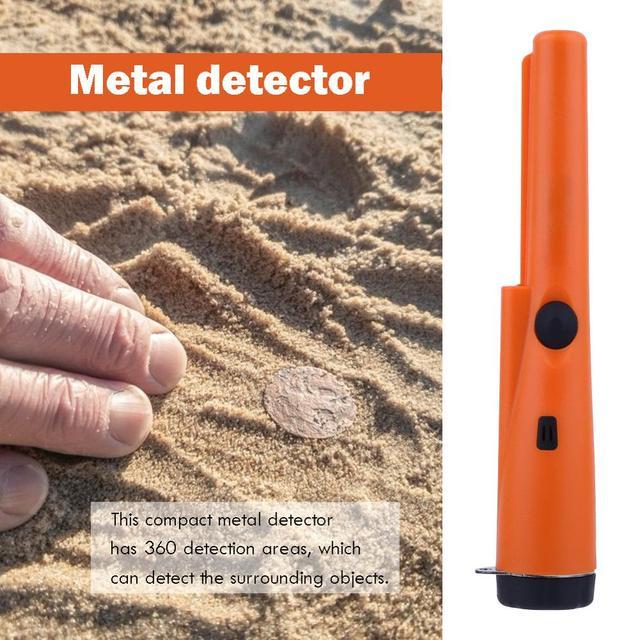 Portable Sensitivity Metal Detector Handheld Pinpointers IP66 Waterproof Metal Gold Tester Built-in LED Lights Positioning Bar 4