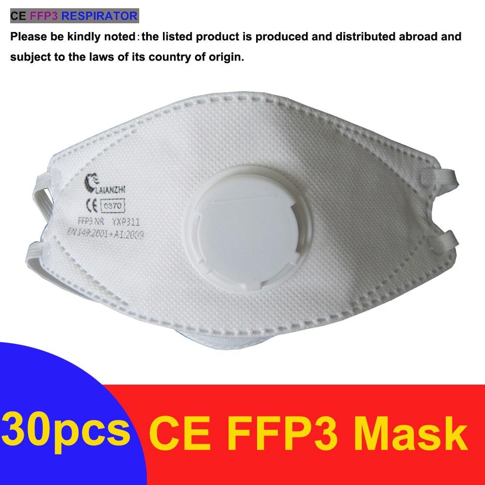 CE FFP3 Face Masks Valve Headband Headwear Mouth Masks for Virus Protection Face Mask Antivirus Dustproof Respirator FFP3Mask