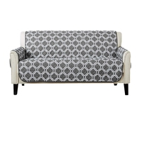 SZS Hot Collection Deluxe Reversible Quilted Furniture Protector. Beautiful Print On One Side/Solid Color On the Other for Two F
