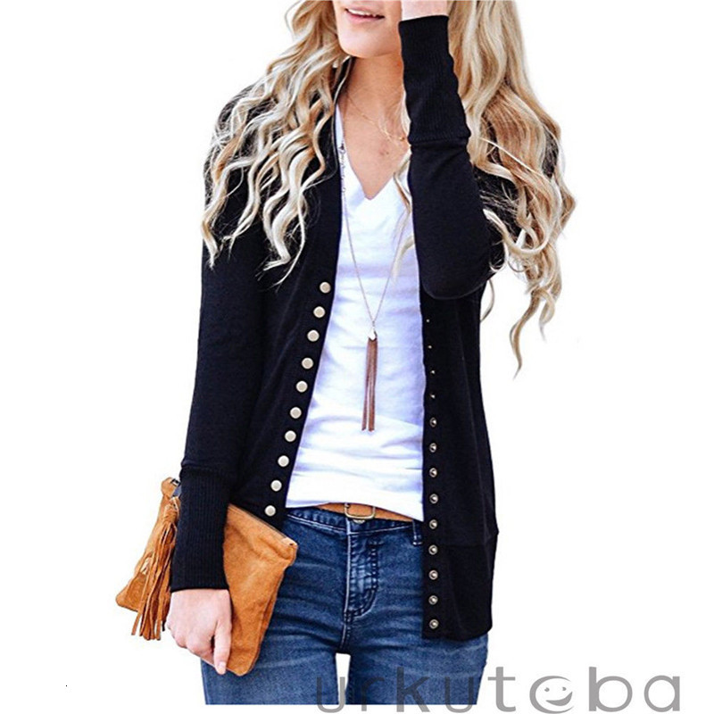 Autumn Winter Women Casual Long Sleeve Knitted Cardigans  New Ladies Button Sweaters Fashion Cardigan