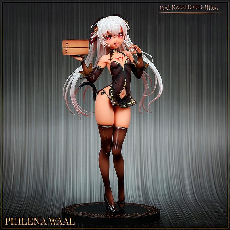 Hobby Japan Amakuni Dai Kasshoku Jidai Philena Waal PVC Action Figure Anime Sexy Girl Figure Model Toys Collection Doll Gift