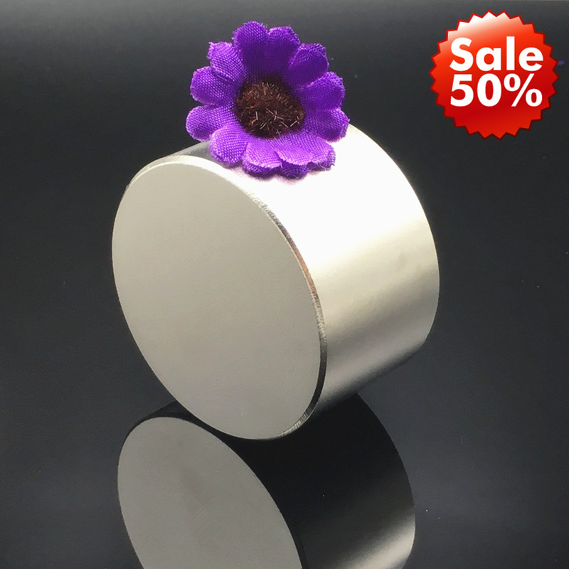 Magnet 1pc/lot N52 Dia 50x30 mm hot round magnet Strong magnets N35 N40 Rare Earth Neodymium Magnet powerful permanent magnetic-in Magnetic Materials from Home Improvement