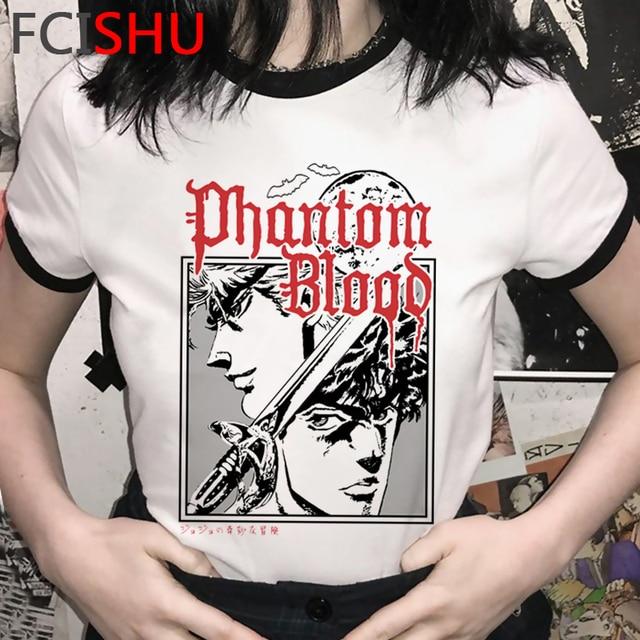 Hot Anime Jojo's Bizarre Adventure Cool T Shirt Men Funny Cartoon Graphic 90s T-shirt Streetwear Tshirt Summer Top Tees Male