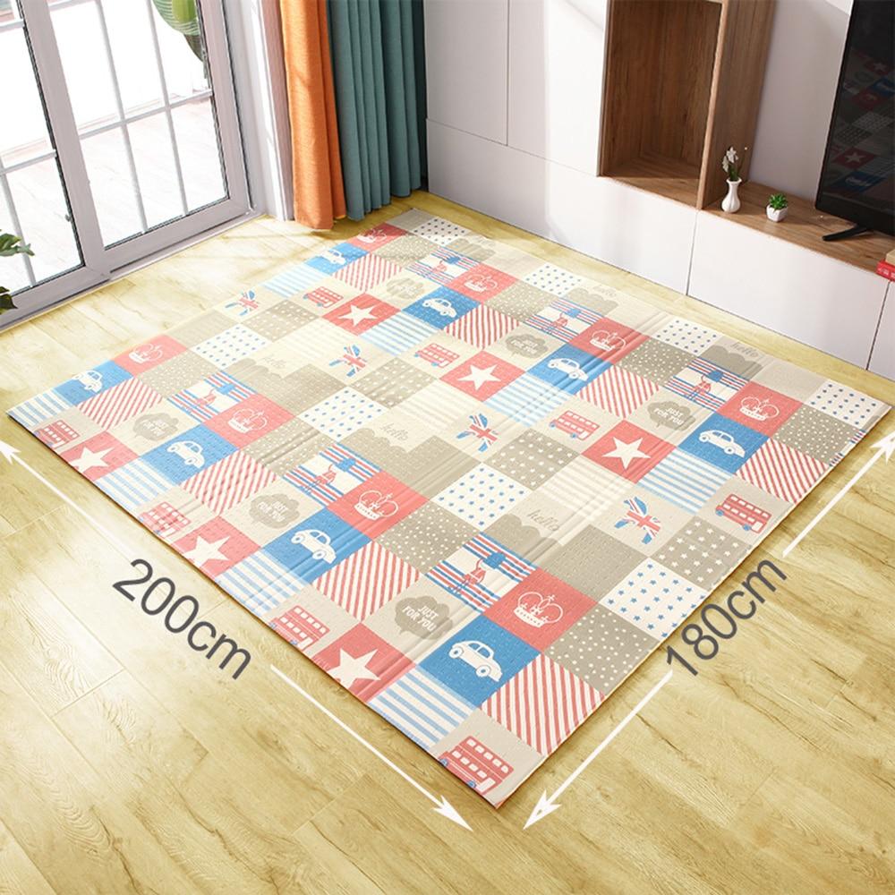 H2e347e3cef1a40fbb048c501585f9117J XPE Environmentally Friendly Thick Baby Crawling Play mat Folding Mat Carpet Play Mat For Children's Mat Kid Rug Playmat