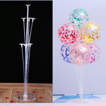 7 Tubes Stand Balloon With Holder Column Confetti Balloon For Baby Shower And Wedding Decoration
