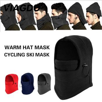 Portable Earflap Faux Fur Riding Women Mask Hat Sport Equipment Trapper Ski Hat Cossack Cap Snow Cap Durable Polyester Men image