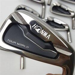 Golf Clubs Professionelle golfer 737P Golf Irons HONMA Tour Welt TW737p eisen gruppe 3-11 S (10 PCS) schwarz kopf stahl welle