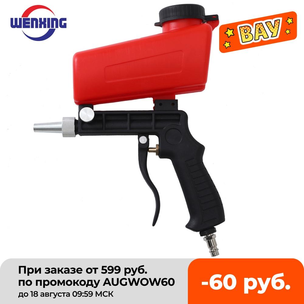 WENXING 90psi Portable Gravity Sandblasting Gun Pneumatic tool Small Sand Blasting spray...