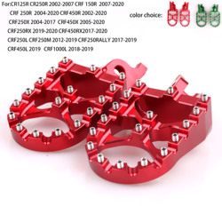 For honda crf 250, 450 x 250x 250r 450r 1000 cr 125 250 Motorcycle CNC Foot rests Pegs Footrest Footpegs