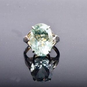 Image 1 - CSJ Big stone 13ct Anello di ametista verde ovale cut 13*18 anello in argento sterling 925 naturale della pietra preziosa gioielli per contenitore di regalo delle donne della ragazza