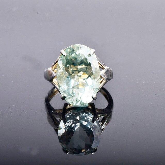 CSJ Big stone 13ct Anello di ametista verde ovale cut 13*18 anello in argento sterling 925 naturale della pietra preziosa gioielli per contenitore di regalo delle donne della ragazza