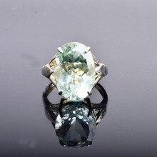 CSJ duży kamień 13ct zielony pierścionek z ametystem owalny krój 13*18 srebro 925 naturalny kamień szlachetny fine jewelry dla kobiet dziewczyna pudełko