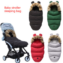 Universal Baby Sleeping Bag Winter Footmuff Bilateral Zipper For 90% Stroller Windbreak  Waterproof Accessories