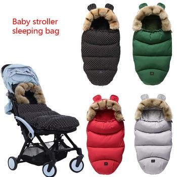 Universal Baby Sleeping Bag Winter Footmuff Bilateral Zipper For 90% Stroller Windbreak  Waterproof Baby Stroller Accessories