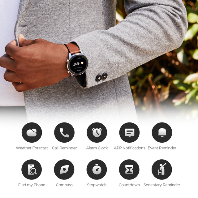 Amazfit GTR 47mm Smart Watch Global Version In Stock GPS In-Build 410mAh Battery 5ATM Waterproof Leather Silicon Strap 4