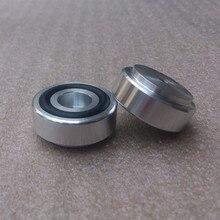 4 szt. 30*13mm pełne aluminiowe nóżki na głośnik wzmacniacz z gumowym pierścieniem