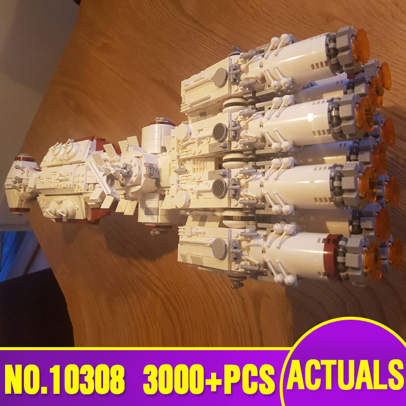 Star Toys Wars Compatible With Legoing MOC 10308 Blockade Runner (Tantive IV) Model Building Blocks Bricks Kids Christmas Gifts