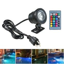 20W RGB Led światło podwodne wodoodporny IP65 basen z fontanną stawy zbiornik akwarium lampa 16 kolorów + pilot lampy punktowe