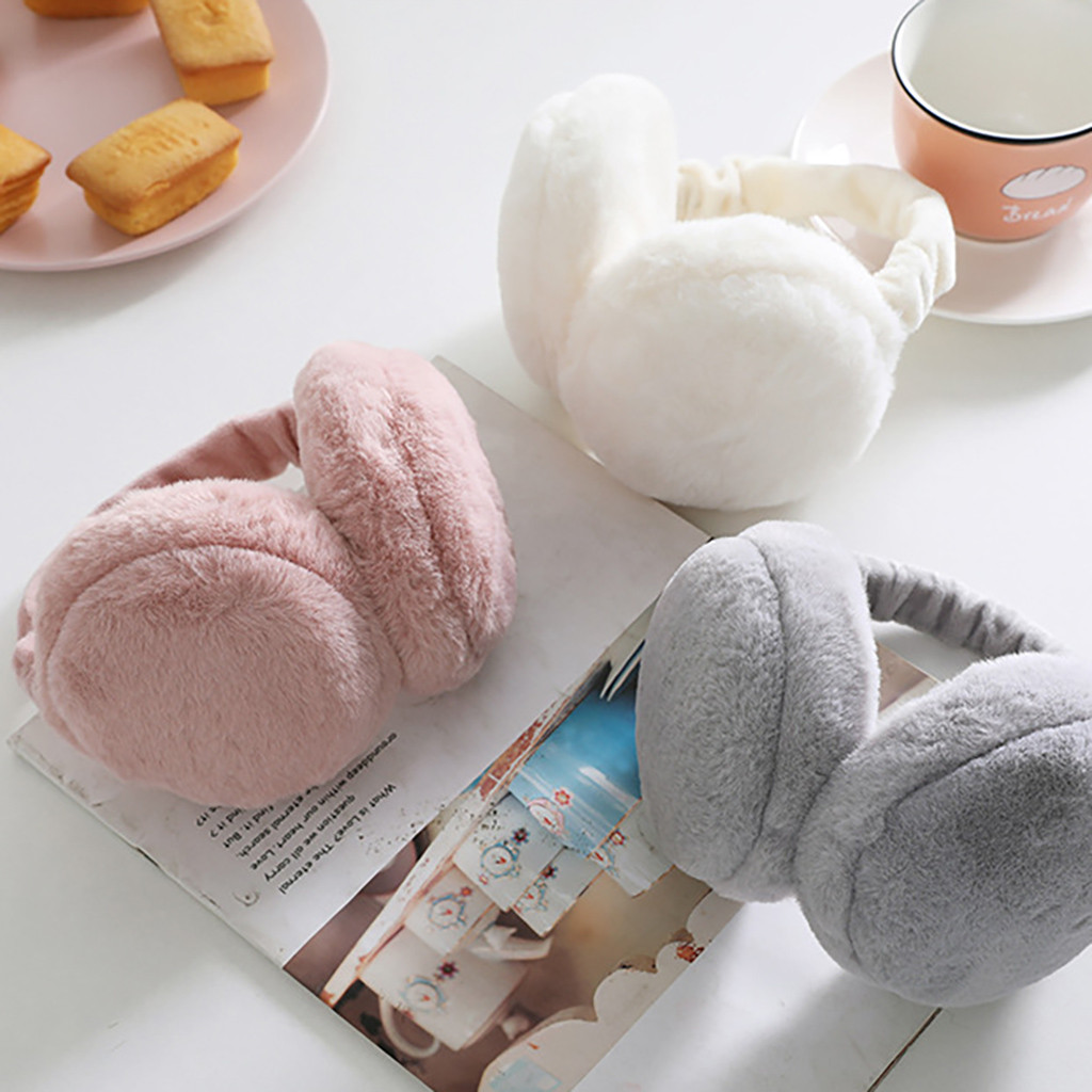 Зимние новые милые разноцветные Наушники унисекс; теплые наушники для девочек и мальчиков; теплые зимние наушники с кроликом