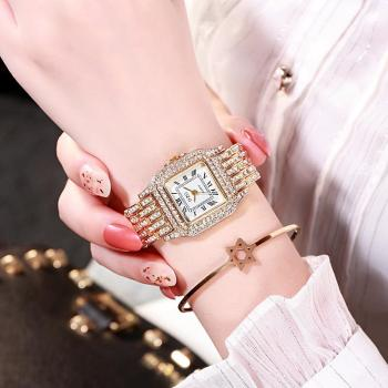 Luxury Women's Watches Rhinestone Bracelet Watches for Women Rose Gold Watch Ladies Stainless Steel Quartz Clock Reloj Mujer fashion women watches rose gold silver stainless steel band analog quartz watch rhinestone bracelet wristwatch female clock