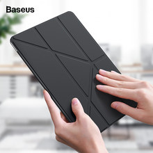 Baseus Opvouwbare Case Voor Ipad 10.2 Inch 2019 Coque Smart Auto Sleep Wake Up Pu Leather Back Bag Cover Voor ipad 7 2019 Funda Capa(China)