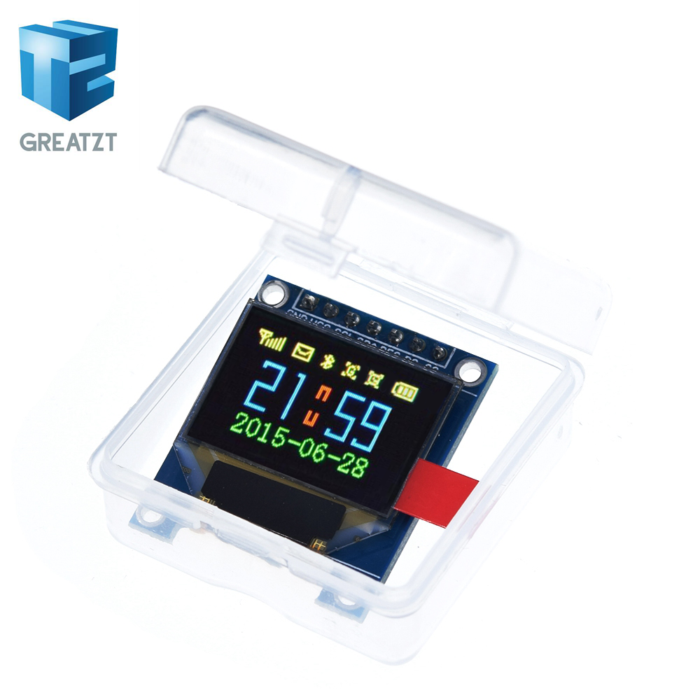 0.95 Inch Full Color OLED Display Module With 96x64 Resolution,SPI,Parallel Interface,SSD1331 Controller 7PIN New With Case