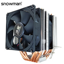 Sneeuwpop 6 Heatpipes Pc Quiet Cpu Cooler 4Pin Pwm 90Mm Fan Voor Intel Lga 775 1150 1151 1155 1366 Amd AM4 AM3 AM2 Cpu Koelventilator