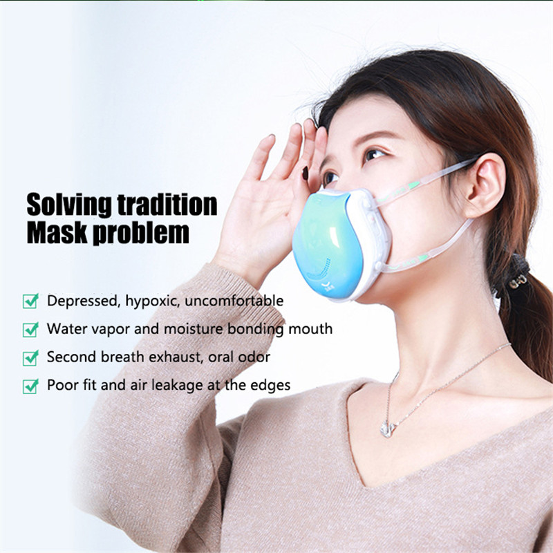 Air Purification Electric Mask Air Purifying Anti Dust Pollution Fresh Air Supply Pm2.5 With Breathing Valve Face Mask