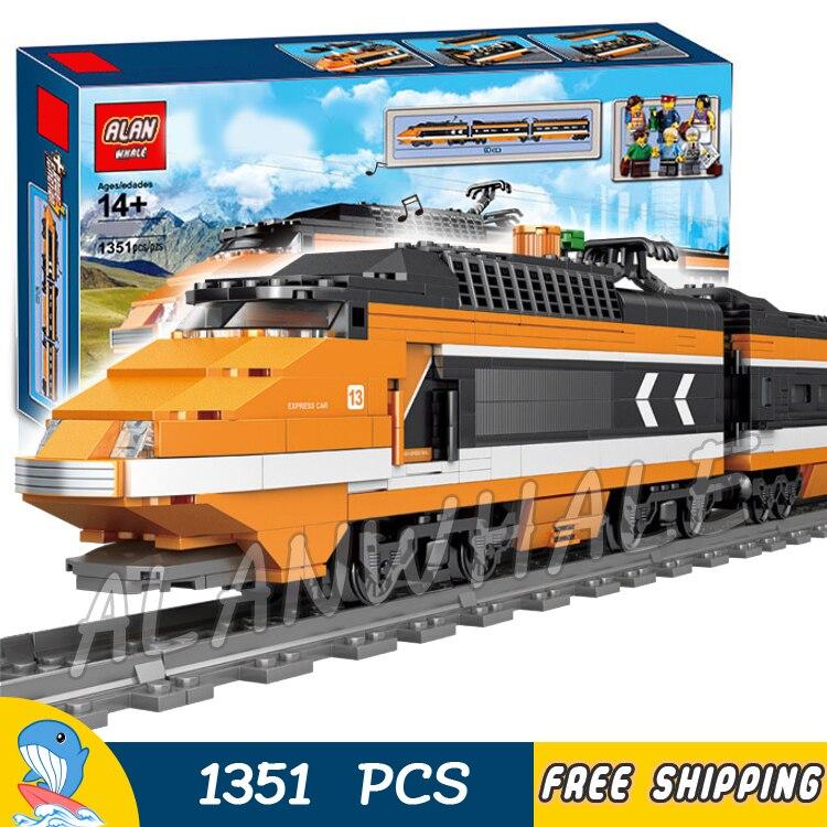 1351 pièces créateur Trains à grande vitesse Horizon Express bricolage 3D modèle blocs de construction enfants jouet briques Compatible avec Lego