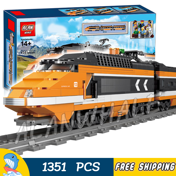 1351pcs Creator Trains High speed Horizon Express DIY 3D Model Building Blocks Children Toy Bricks Compatible With Lago image