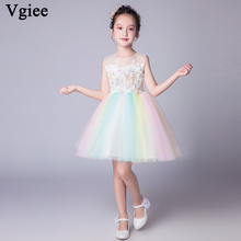 Vgiee  Kids Dresses for Girls Birthday Princess Little Clothing Girl Party and Wedding CC587