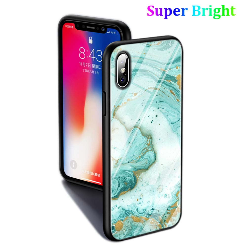 Black Cover Gold Marble Fashion for iPhone X XR XS Max for iPhone 8 7 6 6S Plus 5S 5 SE Super Bright Glossy Phone Case in Fitted Cases from Cellphones Telecommunications