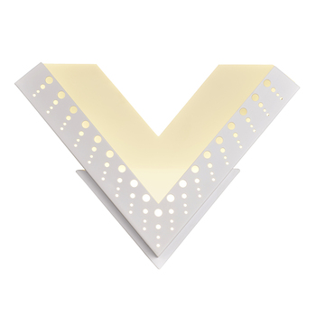 """Lamplo Creative LED Wall Lamp Alphabet """"V"""" Nordic Postmodern Wall Mounted Light For Living room Bedroom Bedside Lamp Decoration"""