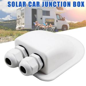 Solar Car Junction Box Plastic Roof Wire Entry Gland Box Solar Panel Cable Motorhome Junction Box RV Caravan Accessories