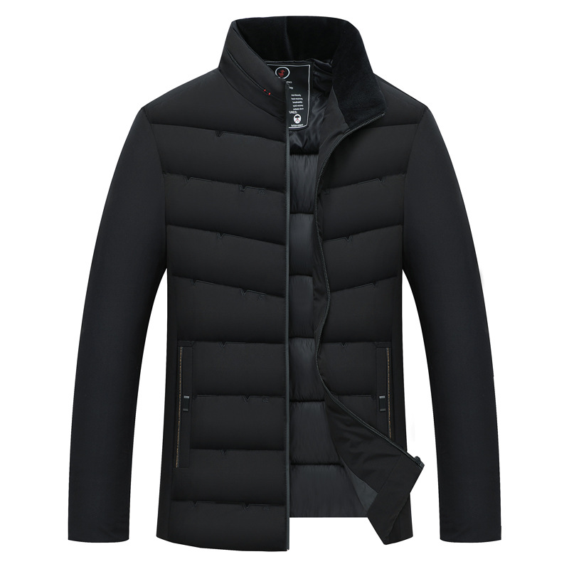 New Winter Down Jacket Coat Male High Quality Windproof Warmth Slim Collar Cotton Coat Male Doudoune Homme