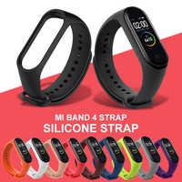 TOP Mi Band 3/4 Strap Silicone Strap Bracelet Accessories for Xiaomi Mi Band 3/4 Smart