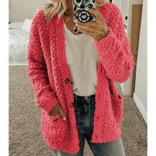 Женский свитер с длинным рукавом кардиган повседневное однотонное