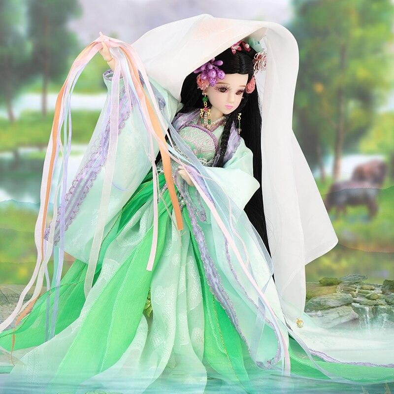Poupées fille chinoise à collectionner Vintage Xi Shi poupée jouets cadeaux w/Stand quatre beautés de la série ancienne chine D2109 - 5