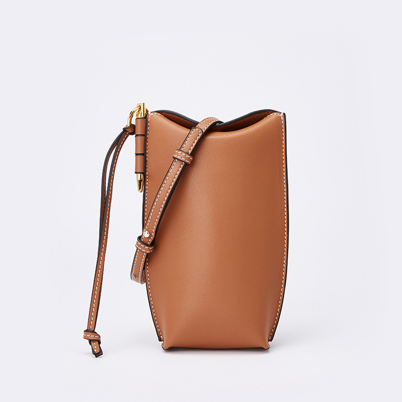 Genuine leather bucket bag Mobile phone bags new handbag mini retro leather handbags women shoulder bag GN-SB-fgmnxb