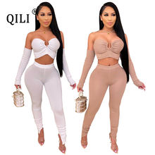 Qili сексуальный женский комплект из 2 предметов без бретелек