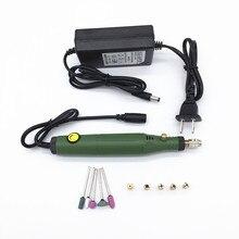 Перекрестная граница Мини электрическая дрель микро электрическая шлифовальная группа бесступенчатая скорость управления полировальная гравировальная машина резьба DIY