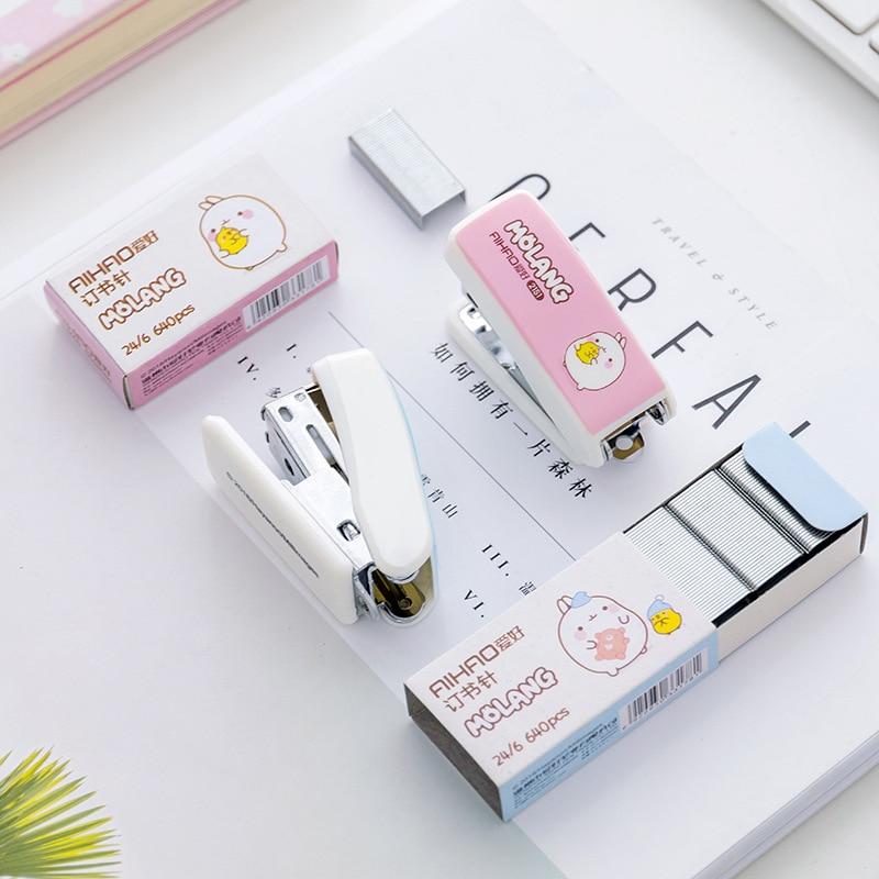 Sandro Creative MINI Stapler  Kawaii Cartoon Stapler Stapler Set Office Learning Stapler Student Supplies