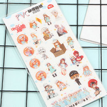 Hataraku Saibou Cells At Work Anime Plastic Stickers Transparent Decal Sticker for Phone Laptop Book and other Flat Sticker Toy anime black butler plastic stickers transparent decal sticker for phone laptop book and other flat sticker children toy sticker