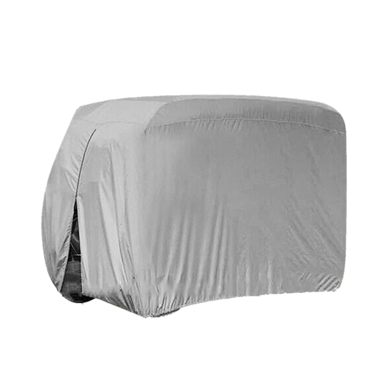 Waterproof Dust Prevention Golf Cart Cover Case For 4 Passenger Golf Carts For Yamaha Club Car EZ-GO Model Silvery