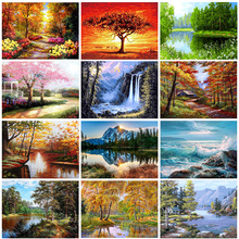 GATYZTORY Paint By Numbers For Adults Children DIY HandPainted Oil Painting Landscape Picture Paint Home Decoration Custom Photo